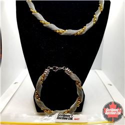 "Chain: Yellow Gold & Stainless (18"") - 18k Overlay ION Plated Brass"