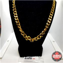 "Chain: Curb (24"") Stainless Steel - 18k Overlay ION Plated Brass"