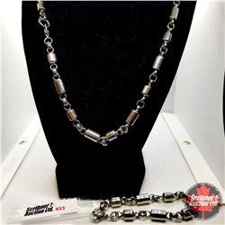 "Chain: Neck Chain &  Bracelet (24"" & 8"") Stainless"