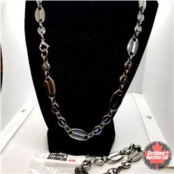 """Chain: Mens Set (22"""" & 8"""") Stainless"""