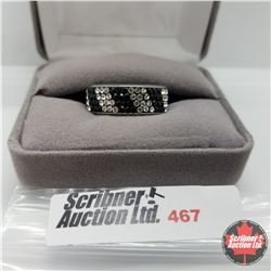 Ring - Size 10: Black & White Austrian Crystal Stainless