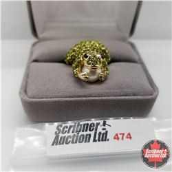 Ring - Size 6: Crystal Frog Austrian Crystal - Stainless