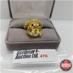 Ring - Size 7: Frog Ring Stainless with 14K Overlay ION Plated Brass