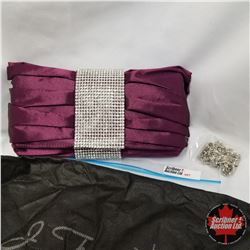 Purse - Purple Clutch w/Crystals
