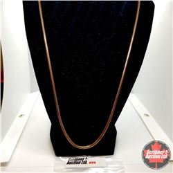 """Chain: Snake Chain (24"""") Stainless with Overlay Rose Gold"""