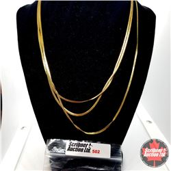 """Chain: Triple Strand Foxtail (18"""") Stainless with 14k Overlay ION Plated Brass"""