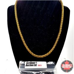 """Chain: Popcorn ION Yellow Gold (18"""") Stainless with 14k Overlay ION Plated Brass"""
