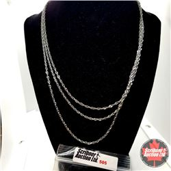 """Chain: Singapore 3 Strand (18"""") Stainless"""