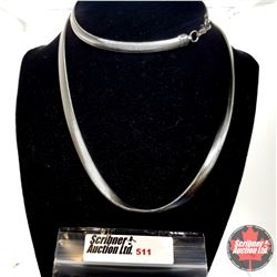 """Chain: Snake Flat (30"""") Stainless"""