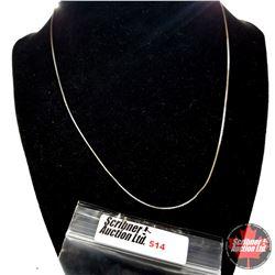 Chain: Diamond Cut 14K Overlay Sterling