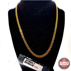 """Chain: (20"""") Stainless with 14k Overlay ION Plated Brass"""