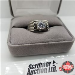 Ring - Size 10: Simulated Diamond Ring Stainless
