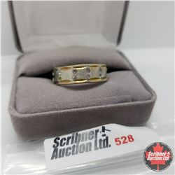 Ring - Size 12: Austrian Crystal Band  ION Yellow Gold Stainless