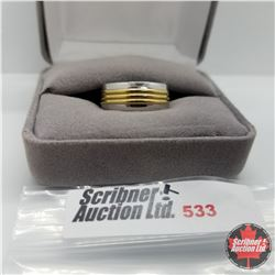 Ring - Size 7: Two Tone Band Stainless