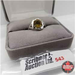 Ring - Size 7: Alexite - Sterling Silver - Platinum Bond Overlay