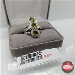 Ring - Size 8: Alexite Platinum Bond Overlay