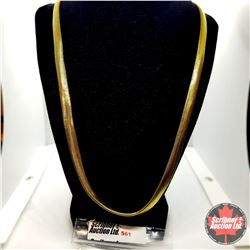"""Chain: Snake (24"""") ION Plate Yellow Gold - Over Stainless"""