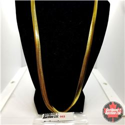 """Chain: Snake (18"""")  - Stainless with 14K Overlay ION Plated Brass"""
