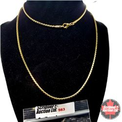 """Chain: Fancy (30"""")  - Stainless with 14K Overlay ION Plated Brass"""