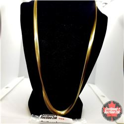 """Chain: Snake (24"""") - Stainless with 14K Overlay ION Plated Brass"""