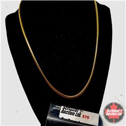 """Chain: Snake Chain (20"""") - Stainless with 14K Overlay ION Plated Brass"""