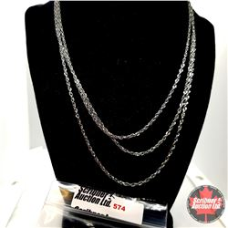 """Chain: Singapore Triple Strand (18"""") - Over Stainless"""