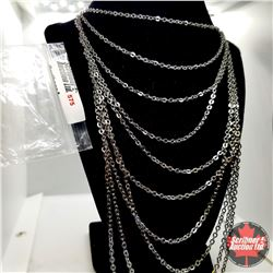 """Chain: Multiple Strand (20"""") - Over Stainless"""