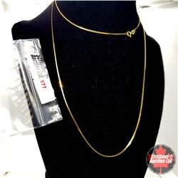 """Chain: Serpentine 30""""  - Stainless with 14K Overlay ION Plated Brass"""