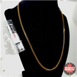 """Chain: Stainless Steel (20"""")  - Stainless with 14K Overlay ION Plated Brass"""