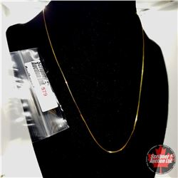 """Chain: Box (18"""")  - Stainless with 14K Overlay ION Plated Brass"""