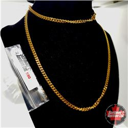 """Chain: Yellow Gold (30"""")  - Stainless with 14K Overlay ION Plated Brass"""