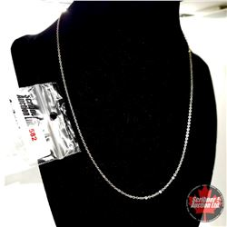 """Chain: - Sterling Silver (18"""")"""