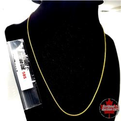 """Chain: Popcorn (18"""")  - Stainless with 14K Overlay ION Plated Brass"""
