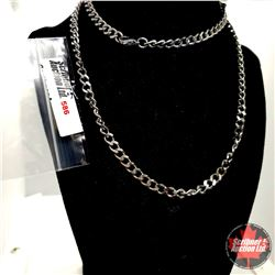 """Chain: Curb (30"""") Stainless"""
