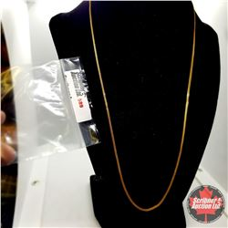 """Chain: Sterling (20"""")  - Stainless with 14K Overlay ION Plated Brass"""