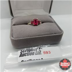 """Ring - Size 7: """" Ruby (Lab) - Sterling Silver"""
