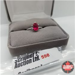 Ring- Size 7: Ruby (Lab) - Sterling Silver