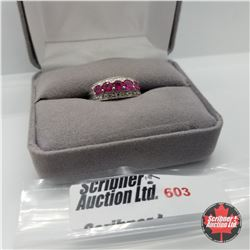 Ring - Size 7: Ruby (Lab) - Sterling Silver