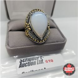Ring - Size 12: Mens Opalite Stainless