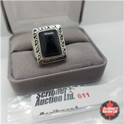 Ring - Size 7: Black Onyx - Stainless