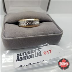 Ring - Size 9: Stainless Band - Stainless