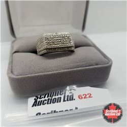 Ring - Size 11: Mens Diamond - Stainless