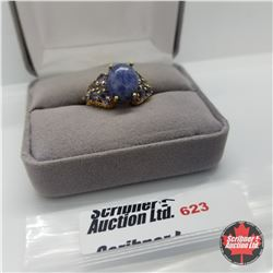 Ring - Size 8: Sodalite - Stainless
