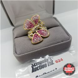 Ring - Size 10: Austrian Crystals - Butterfly - Stainless