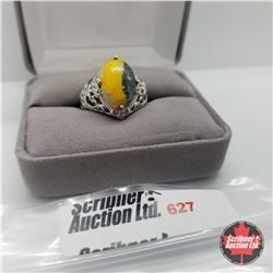 Ring - Size 6 Bumble Bee Ring Platinum Overlay
