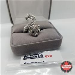 Ring - Size 7: White Austrian Crystal Fox