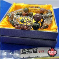 Bracelet - Stretch Filigree & Multi Bead
