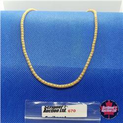 """Chain - Bead Chain Mesh (18"""") 14k Overlay Stainless"""