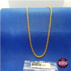 """Chain - Bead Chain Mesh (20"""") 14k Overlay Stainless"""
