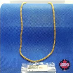 """Chain - Bead Mesh (24"""") Yellow Gold - 14k Overlay Stainless"""